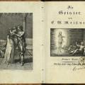 エードゥアルト・クリストフ・ヴィルヘルム・マイスナー『幽霊たち』第三巻 (ベルリン、1806年) 口絵及び装飾画付扉
