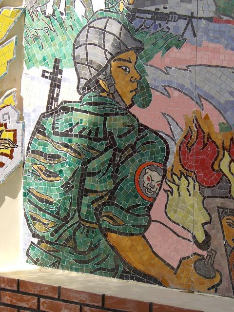ビンアンの追悼碑のモザイク画2