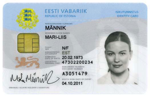 エストニアのeIDカード