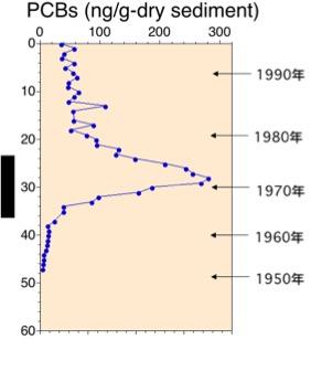 図:PCBの濃度分布