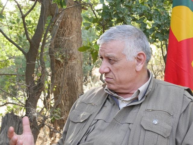 PKKを含む関連組織を統轄するジェミル・バイク:カンディール山で2015年6月撮影