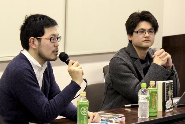 開沼博氏(左)と五十嵐泰正氏
