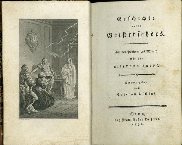 カイェタン・チンク『ある招霊術師の話』第一部 (ウィーン、1790年) 口絵版画及び扉