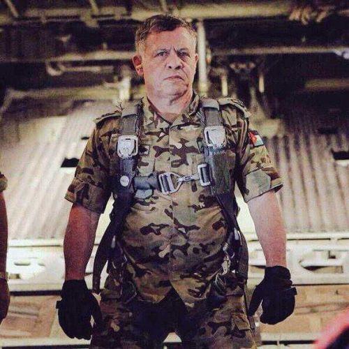 ヨルダン国王アブドゥッラー二世。空軍で兵役を務めた。