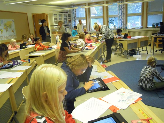 ソレントゥナ市ヤーデス校(Gärdesskolan)教室の風景(2)出所:豊福晋平撮影