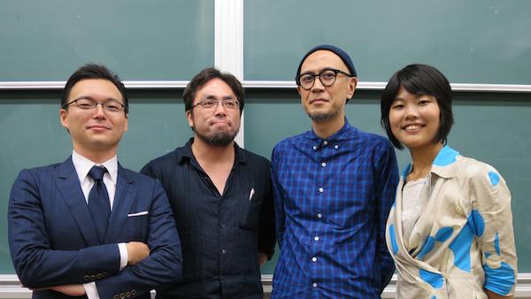 (編著者集合写真:左から木下氏、秋谷氏、前田氏、朴氏)