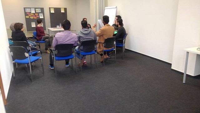 写真4:若い難民者の支援する団体のセミナー(就労支援)
