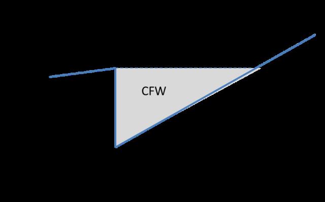 図 1 成長過程にある経済でのCFW
