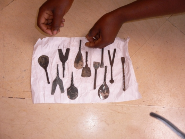 セネガルで実際に使用されていたナイフ
