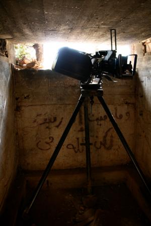 ゲリラ戦のための塹壕。現在は史跡として展示されている。(2010年10月)