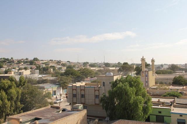 ソマリランド・ハルゲイサ中心部の町並み