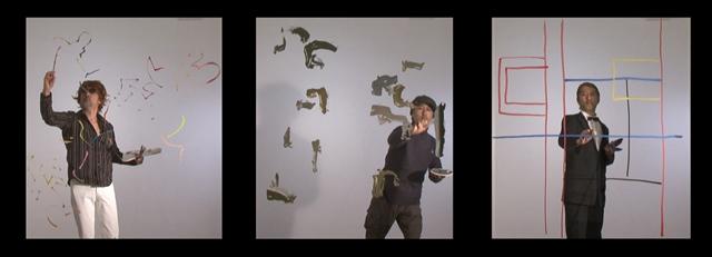 美術と哲学2 フランス語、ドイツ語、英語 2011 ビデオ(フランス語:15分26秒、ドイツ語:15分23秒、英語:13分50秒) (c) AIDA Makoto Courtesy Mizuma Art Gallery