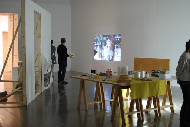「共にいることの可能性、その試み」展示風景(2016年2月撮影)