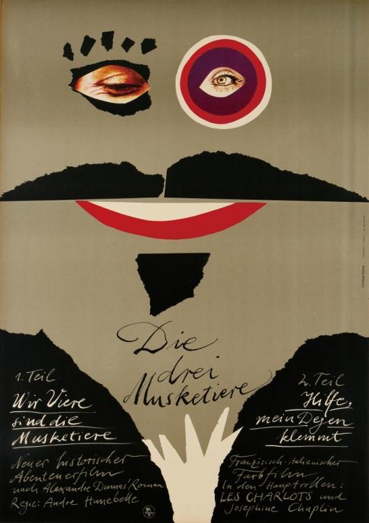 『三銃士』(1974年/フランス/アンドレ・ユヌベル監督) ポスター:クリストフ・エーベッツ(1977年) サントリーポスターコレクション(大阪新美術館建設準備室寄託)