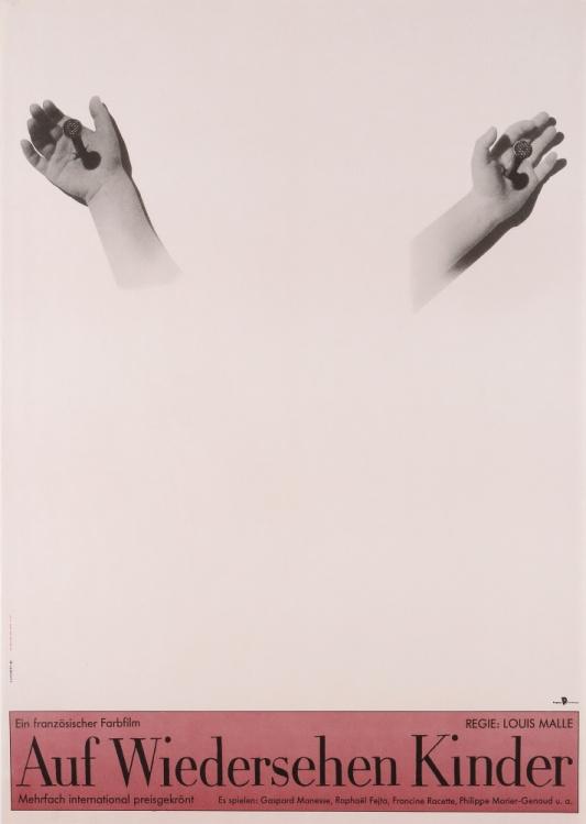 『さよなら子供たち』(1987年/フランス=西ドイツ/ルイ・マル監督) ポスター:オットー・クンメルト(1989年) サントリーポスターコレクション(大阪新美術館建設準備室寄託)