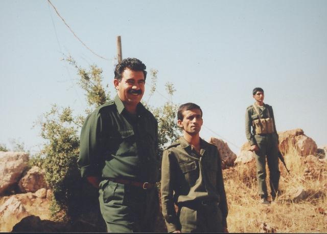 オジャランPKK党首:ベカー高原で1992年8月撮影